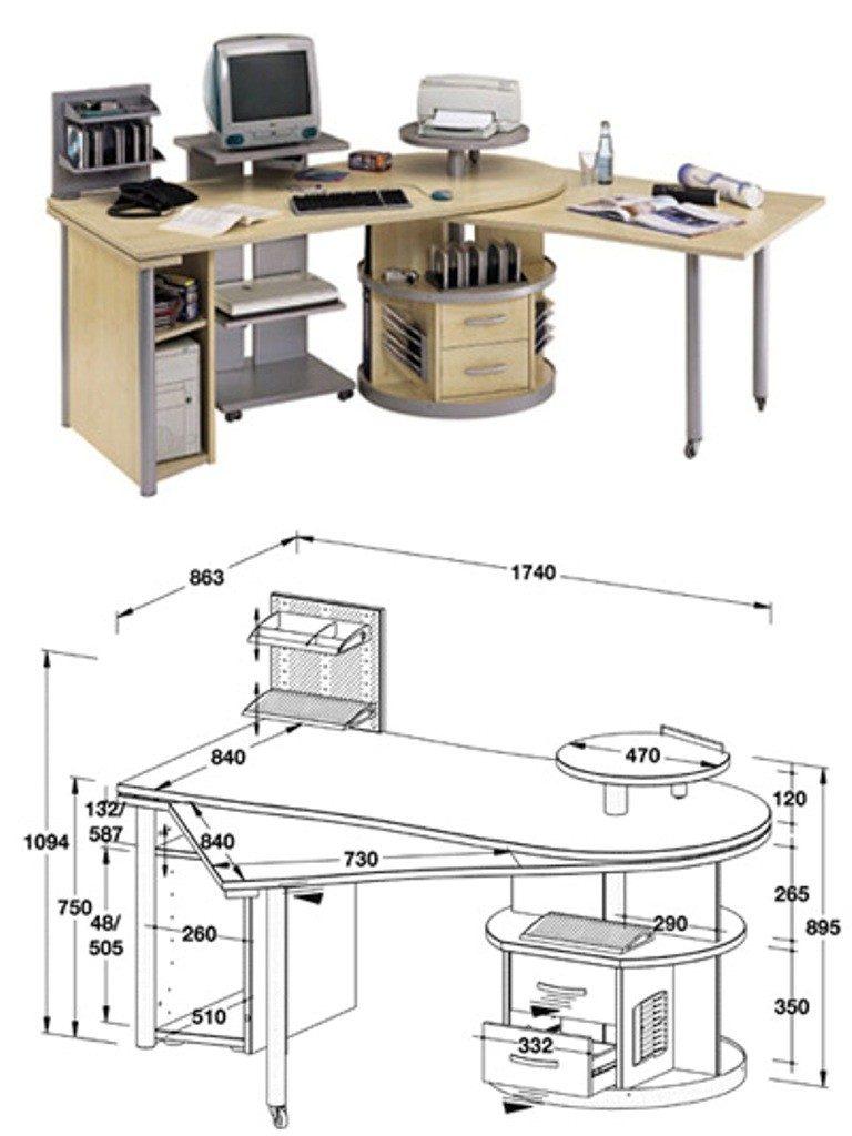 Проектирование компьютерных столов